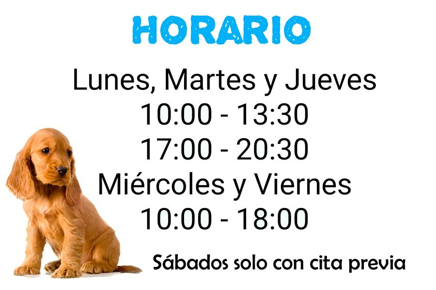 Horarios Clinica Veterinaria Baloo Camas